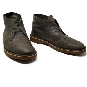 Clarks Bushacre 2 Grey Leather Chukka Boot 10